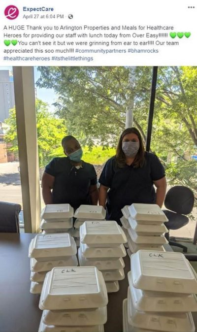 Meals for Healthcare Heroes