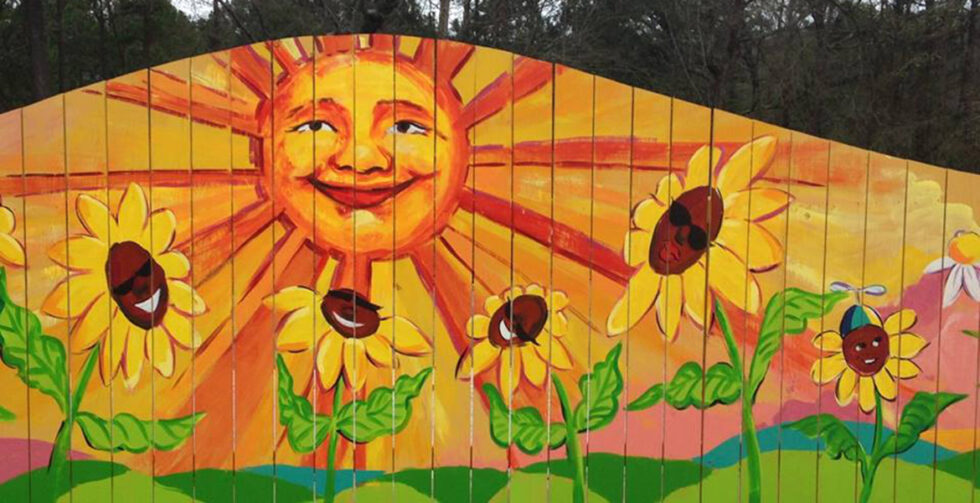 Garden Mural - Retreat at Mountain Brook